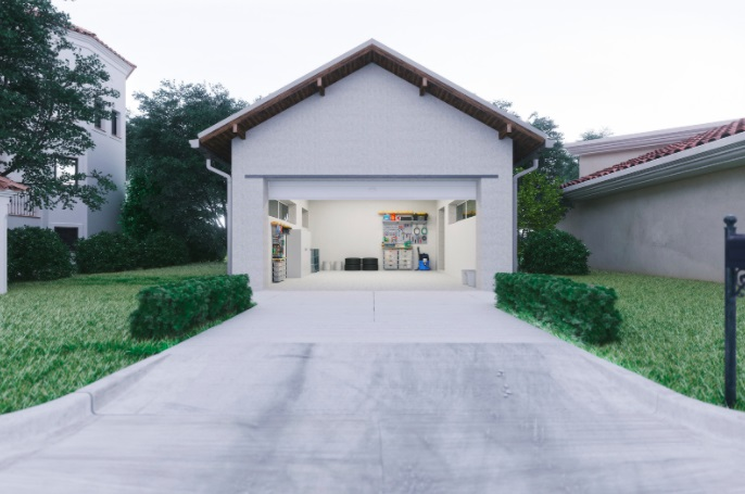 well maintained concrete driveway in sugar land tx